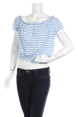 Дамска блуза Even&Odd, Размер XL, Цвят Син, 63% полиестер, 33% вискоза, 4% еластан, Цена 16,96лв.