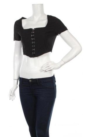 Дамска блуза Nasty Gal, Размер XS, Цвят Черен, Полиестер, Цена 19,20лв.