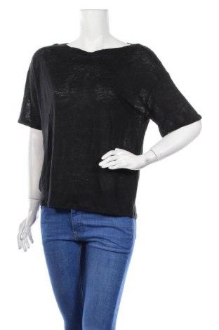 Γυναικεία μπλούζα Weekend Max Mara, Μέγεθος S, Χρώμα Μαύρο, Λινό, Τιμή 45,76€