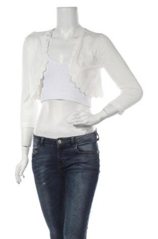 Γυναικεία ζακέτα Morgan De Toi, Μέγεθος M, Χρώμα Λευκό, 78% βισκόζη, 22% πολυαμίδη, Τιμή 9,38€