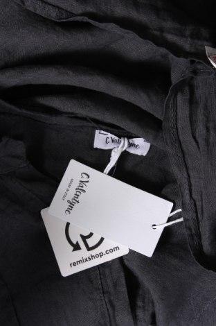 Дамска риза, Размер M, Цвят Черен, Лен, Цена 34,22лв.