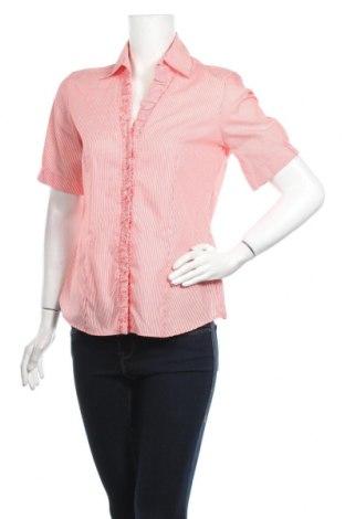 Дамска риза Eterna, Размер M, Цвят Червен, Памук, Цена 28,60лв.