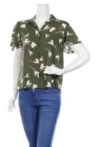 Дамска риза Mango, Размер M, Цвят Зелен, Вискоза, Цена 28,60лв.