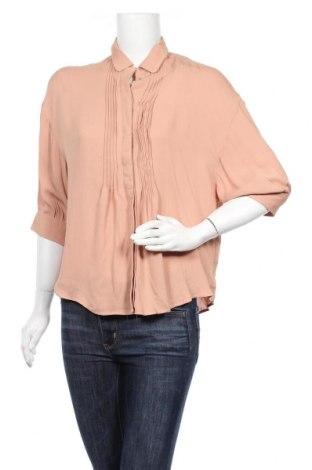 Дамска риза Noa Noa, Размер S, Цвят Бежов, Вискоза, Цена 68,37лв.