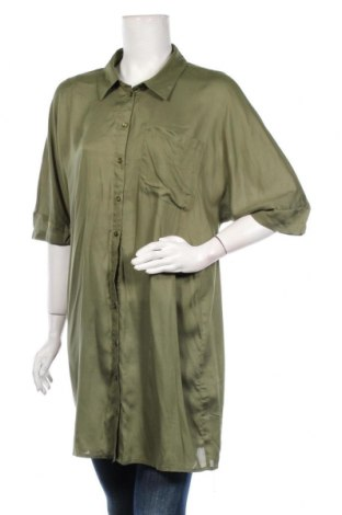 Дамска риза Noisy May, Размер M, Цвят Зелен, Вискоза, Цена 30,16лв.
