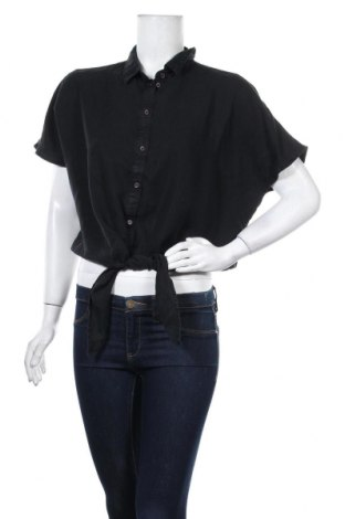 Дамска риза Noisy May, Размер M, Цвят Черен, Лиосел, Цена 24,36лв.