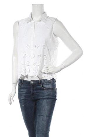 Дамска риза Pepe Jeans, Размер L, Цвят Бял, Памук, Цена 37,92лв.