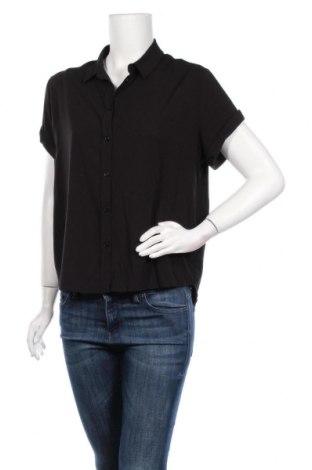 Дамска риза Samsoe & Samsoe, Размер M, Цвят Черен, 96% вискоза, 4% еластан, Цена 53,36лв.
