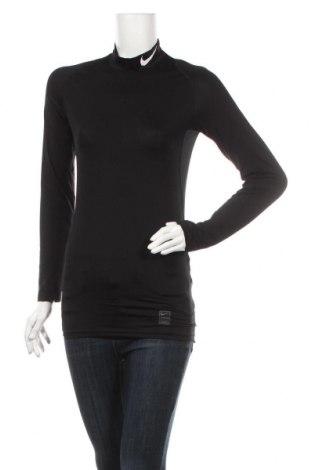 Дамска спортна блуза Nike, Размер S, Цвят Черен, 92% полиестер, 8% еластан, Цена 51,75лв.