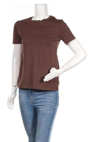 Дамска тениска Edited, Размер M, Цвят Кафяв, Памук, Цена 13,00лв.