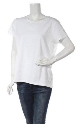 Дамска тениска Gant, Размер XXL, Цвят Бял, 95% памук, 5% еластан, Цена 45,82лв.