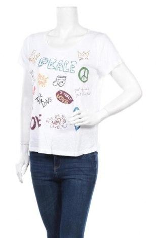 Дамска тениска Grace, Размер M, Цвят Бял, 50% памук, 50% модал, Цена 22,40лв.