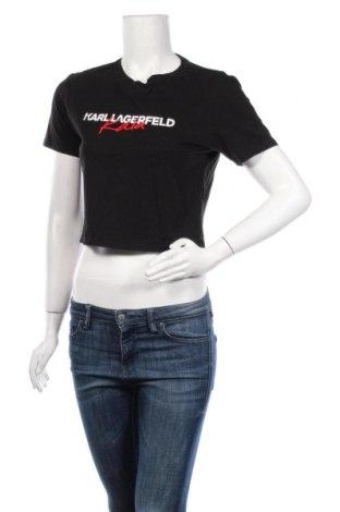 Дамска тениска Karl Lagerfeld, Размер S, Цвят Черен, Памук, Цена 84,27лв.
