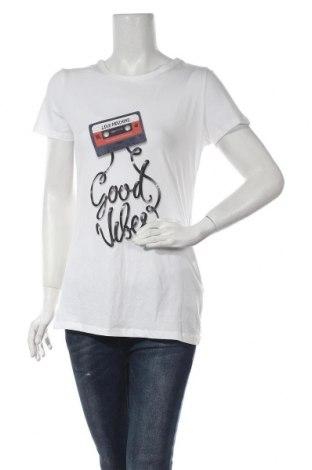 Γυναικείο t-shirt Love Moschino, Μέγεθος L, Χρώμα Λευκό, 94% βαμβάκι, 6% ελαστάνη, Τιμή 53,27€