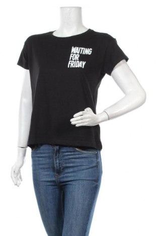 Дамска тениска Mister Tee, Размер S, Цвят Черен, Памук, Цена 36,00лв.