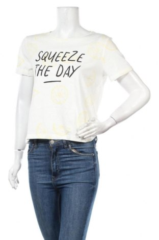 Дамска тениска ONLY, Размер L, Цвят Бял, Памук, Цена 20,88лв.