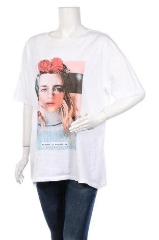 Дамска тениска Pieces, Размер M, Цвят Бял, Памук, Цена 15,66лв.