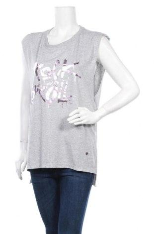 Дамска тениска Please, Размер S, Цвят Сив, Памук, Цена 38,28лв.