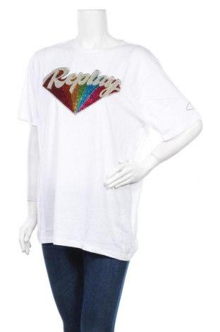 Дамска тениска Replay, Размер XL, Цвят Бял, Памук, Цена 79,00лв.
