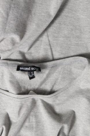 Дамска тениска Second Script, Размер XL, Цвят Сив, Памук, Цена 16,96лв.