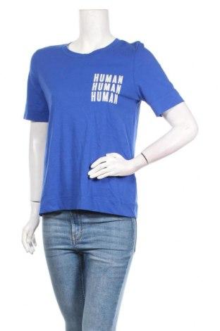 Дамска тениска Selected Femme, Размер S, Цвят Син, Памук, Цена 14,40лв.