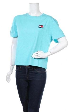 Дамска тениска Tommy Hilfiger, Размер XL, Цвят Син, 50% памук, 50% полиестер, Цена 76,00лв.