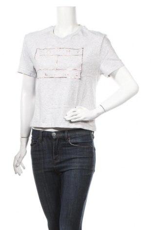 Дамска тениска Tommy Hilfiger, Размер M, Цвят Сив, Памук, Цена 39,44лв.