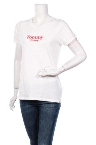 Дамска тениска Tommy Hilfiger, Размер M, Цвят Бял, 80% памук, 20% лен, Цена 44,08лв.