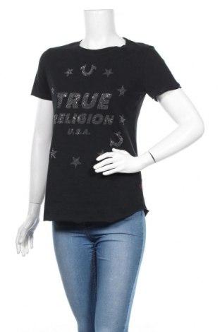 Дамска тениска True Religion, Размер XS, Цвят Черен, Памук, Цена 31,68лв.