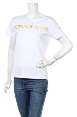 Дамска тениска Versace Jeans, Размер XS, Цвят Бял, Памук, Цена 149,00лв.