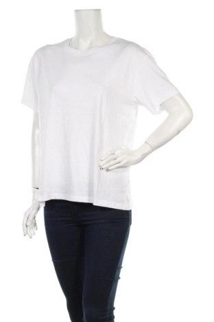 Дамска тениска Weekday, Размер L, Цвят Бял, Памук, Цена 19,72лв.