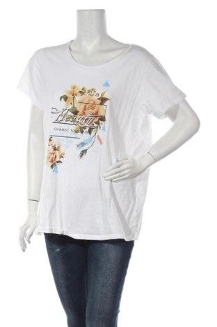 Дамска тениска Zizzi, Размер XL, Цвят Бял, Памук, Цена 19,72лв.