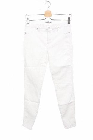 Дамски дънки 7 For All Mankind, Размер L, Цвят Бял, 91% памук, 6% полиестер, 3% еластан, Цена 44,70лв.