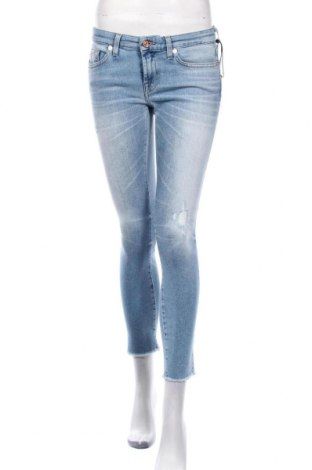 Дамски дънки 7 For All Mankind, Размер S, Цвят Син, 82% памук, 13% модал, 4% други материали, 1% еластан, Цена 102,06лв.