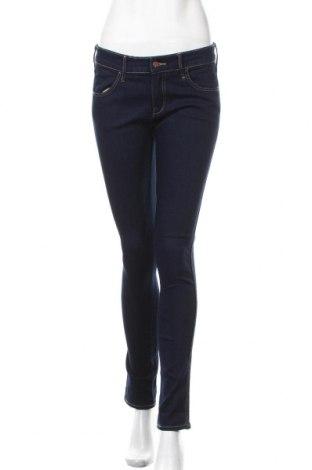 Дамски дънки H&M, Размер M, Цвят Син, 69% памук, 18% полиестер, 12% вискоза, 1% еластан, Цена 21,84лв.