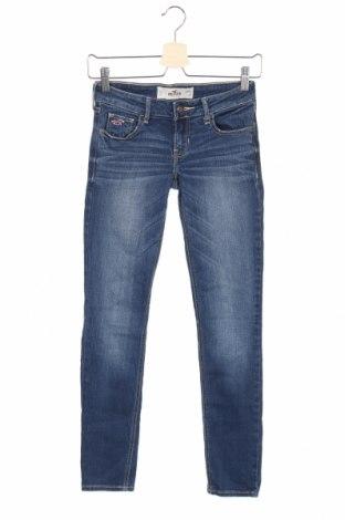 Дамски дънки Hollister, Размер XS, Цвят Син, 78% памук, 21% вискоза, 1% еластан, Цена 6,83лв.