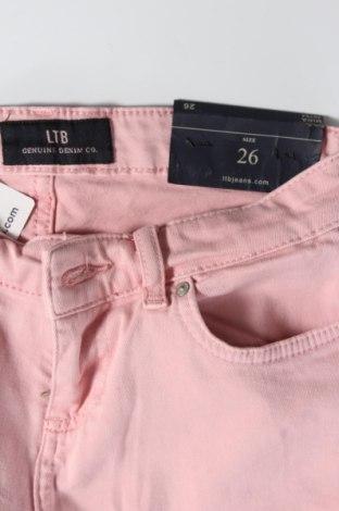 Дамски дънки Ltb, Размер S, Цвят Розов, 97% памук, 3% еластан, Цена 60,52лв.