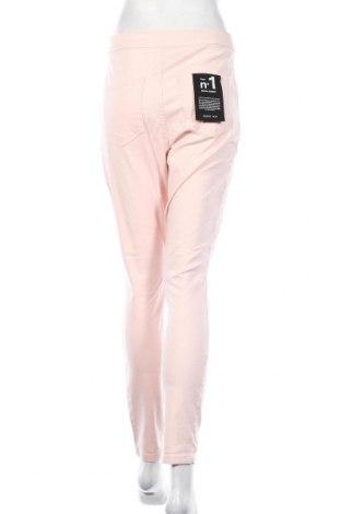 Дамски дънки Noisy May, Размер L, Цвят Розов, 70% памук, 28% полиестер, 2% еластан, Цена 46,92лв.