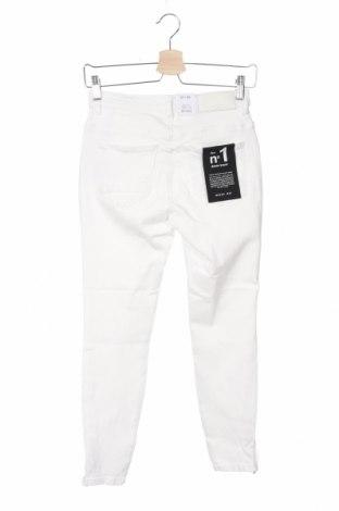 Дамски дънки Noisy May, Размер XS, Цвят Бял, 98% памук, 2% еластан, Цена 35,36лв.