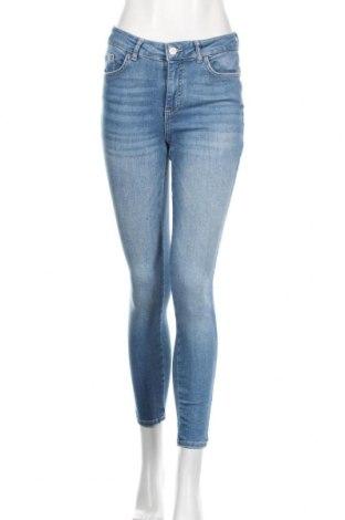 Дамски дънки Pieces, Размер M, Цвят Син, 85% памук, 13% полиестер, 2% еластан, Цена 48,00лв.