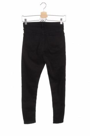 Дамски дънки Topshop, Размер XS, Цвят Черен, 92% памук, 6% полиестер, 2% еластан, Цена 53,40лв.