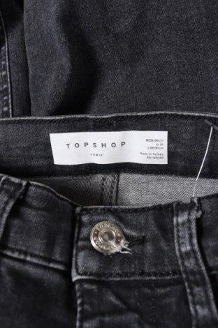 Дамски дънки Topshop, Размер XS, Цвят Сив, 93% памук, 4% други материали, 3% еластан, Цена 52,92лв.