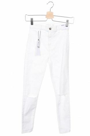 Дамски дънки Topshop, Размер XS, Цвят Бял, 69% памук, 27% полиестер, 4% еластан, Цена 44,50лв.