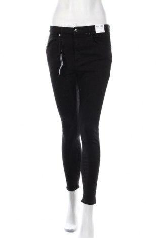 Дамски дънки Topshop, Размер M, Цвят Черен, 90% памук, 8% полиестер, 2% еластан, Цена 53,40лв.