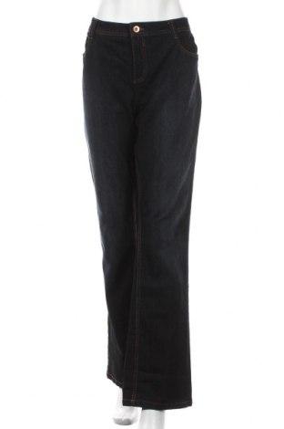Дамски дънки Yessica, Размер XXL, Цвят Син, 76% памук, 24% полиестер, Цена 20,48лв.