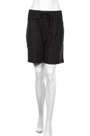 Γυναικείο κοντό παντελόνι Capsule, Μέγεθος XL, Χρώμα Μαύρο, 50% βισκόζη, 35% βαμβάκι, 15% λινό, Τιμή 11,47€