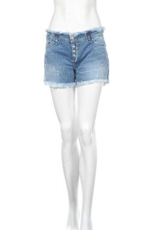 Γυναικείο κοντό παντελόνι Kaporal, Μέγεθος L, Χρώμα Μπλέ, 99% βαμβάκι, 1% ελαστάνη, Τιμή 18,95€