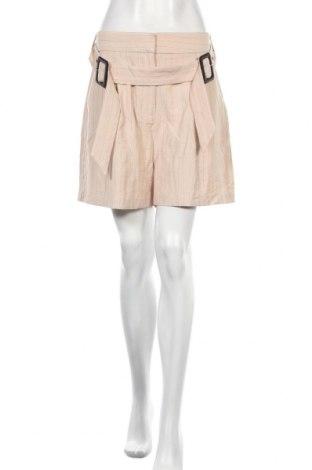 Γυναικείο κοντό παντελόνι Lost Ink, Μέγεθος L, Χρώμα  Μπέζ, 90% βισκόζη, 8% πολυαμίδη, 2% πολυεστέρας, Τιμή 9,75€