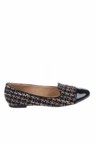Γυναικεία παπούτσια Manoukian, Μέγεθος 39, Χρώμα Μαύρο, Κλωστοϋφαντουργικά προϊόντα, δερματίνη, Τιμή 39,20€