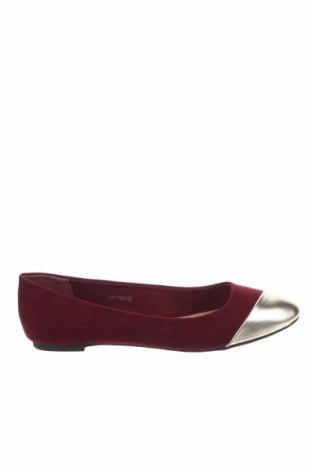 Γυναικεία παπούτσια Manoukian, Μέγεθος 38, Χρώμα Κόκκινο, Κλωστοϋφαντουργικά προϊόντα, δερματίνη, Τιμή 37,97€